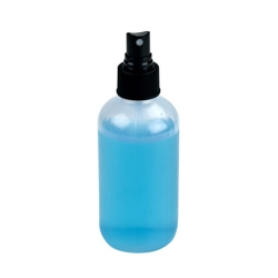 6 oz. Boston Round Spray Bottle with Black Finger Sprayer