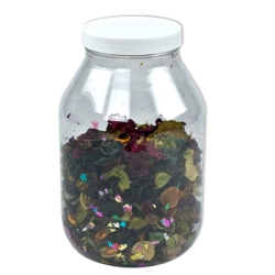 128 oz. (1 Gallon) Clear PET Jar with 100/400 Cap