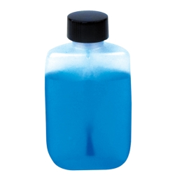 1/2 oz. Natural LDPE Oval Bottle with Phenolic Brush Cap
