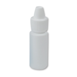 3mL White Cylinder Bottle with 8mm Dropper Cap