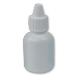10mL White Boston Round Bottle with 13mm Dropper Cap