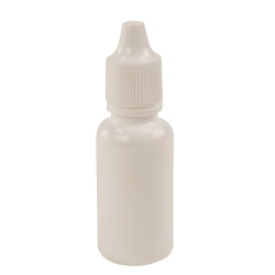 15mL White Boston Round Bottle with 15mm Dropper Cap