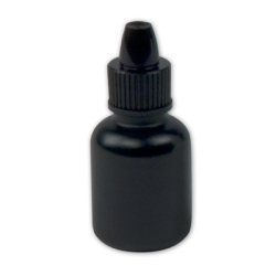 10mL Black Boston Round Bottle with 13mm Dropper Cap