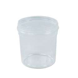 16 oz. Clarified Polypropylene Tapered Tub (Cap Sold Separately)