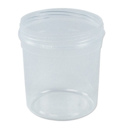32 oz. Clarified Polypropylene Tapered Tub (Cap Sold Separately)