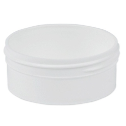 6 oz. Polypropylene Low Profile White Jar with 100mm Neck (Cap Sold Separately)