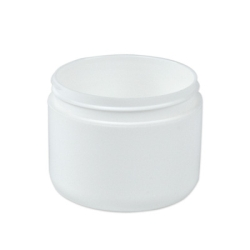 4 oz. White Polypropylene Double Wall Dome Jar with 70/400 Neck (Cap Sold Separately)