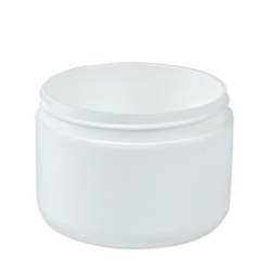 8 oz. White Polypropylene Double Wall Dome Jar with 89/400 Neck (Cap Sold Separately)