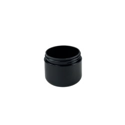 2 oz. Dome Double Wall Black Jar with 58/400 Neck (Cap Sold Separately)