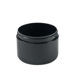 8 oz. Dome Double Wall Black Jar with 89/400 Neck (Cap Sold Separately)