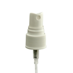 "20/410 White Ribbed Finger Sprayer - 6"" Dip Tube & .16mL Ouput"