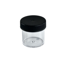 1 oz. Clear Jar with Black 43/400 Cap