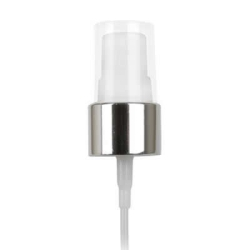 "20/410 Silver/White Smooth Finger Sprayer - 5-1/2"" Dip Tube & 0.14mL Output"