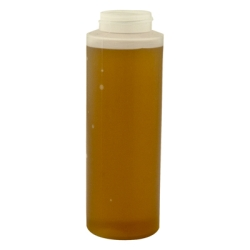 12 oz. LDPE Cylinder Honey Bottle with 38/400 Neck (Cap Sold Separately)