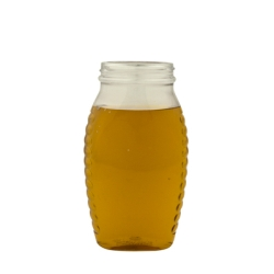 16 oz. Wide Mouth Oval PET Honey Jar with 58/400 Neck  (Cap Sold Separately)