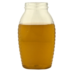 32 oz. Wide Mouth Oval PET Honey Jar with 63/400 Neck  (Cap Sold Separately)