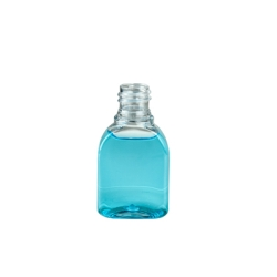 1.25 oz. Clear PET Tombstone Style Amenity Bottle with 18/415 Neck (Cap Sold Separately)
