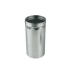 "3"" x 6"" x 21.7 oz. Aluminum Screw Top Can (Cap Sold Separately)"