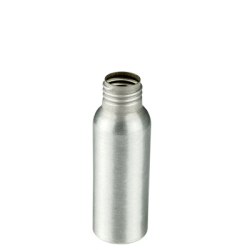 2 oz. Brushed Aluminum Bottle with 24/410 Neck (Cap, Sprayer & Pump Sold Separately)