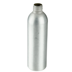 10 oz. Brushed Aluminum Bottle with 24/410 Neck (Cap, Sprayer & Pump Sold Separately)