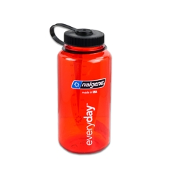 Red 32 oz. Nalgene® Tritan™ Wide Mouth Loop-Top Bottle