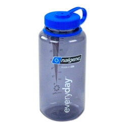 Gray 32 oz. Nalgene® Tritan™ Wide Mouth Loop-Top Bottle