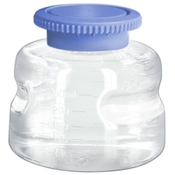 250mL Polycarbonate Sterile Bottles with Polypropylene Caps