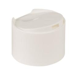 24/410 White Flat Dispensing Cap