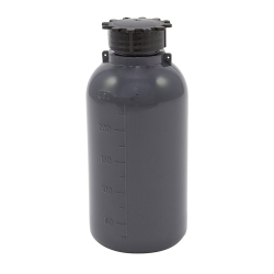 250mL Kartell LDPE Graduated Narrow Mouth Gray Bottle with Cap