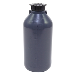 1000mL LDPE Graduated Narrow Mouth Gray Bottle with Cap