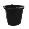 24 Quart Black Bucket