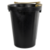 10 Quart Heavy Duty Neoprene Rubber Tall Pail with Brass Handle
