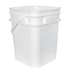 4 Gallon/15 Liter 30 Series White HDPE Square Pail with Handle