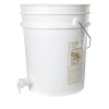 Premium White 5 Gallon Tamco® Modified Bucket with Spigot
