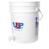 Premium White 5 Gallon Tamco® Modified Bucket with Spigot & USP Logo