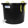 10 Gallon Black Multi-Purpose Bucket with Spigot