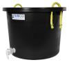 10 Gallon Black Multi-Purpose Bucket Modified by Tamco® with Spigot