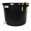 17-1/2 Gallon Black Multi-Purpose Bucket Modified by Tamco® with Spigot