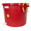 17-1/2 Gallon Red Multi-Purpose Bucket Modified by Tamco® with Spigot
