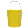 Yellow 1 Gallon Bucket (Lid Sold Separately)