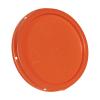 Orange Tear Tab Lid for 1 Gallon Buckets