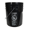 Black 4 Gallon Bucket (Lid Sold Separately)
