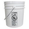 White 4 Gallon Bucket (Lid Sold Separately)