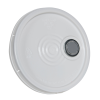 White Tear Tab Lid with Spout for 6 Gallon Economy Buckets