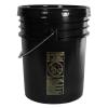 Letica® UN Rated Black 5 Gallon Bucket w/Metal Handle & Lid w/Rieke Pour Spout