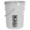 Letica® UN Rated Natural 5 Gallon Bucket w/Metal Handle & Lid w/Rieke Pour Spout