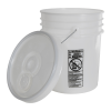 UN Rated Natural 5 Gallon Bucket w/Metal Handle & Lid w/Rieke Pour Spout