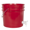 Premium Red 3.5 Gallon Tamco® Modified Bucket with Spigot
