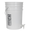 Premium White 6 Gallon Tamco® Modified Bucket with Spigot