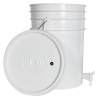 White 6 Gallon Tamco® Fermentation Bucket with Spigot & Lid